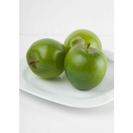 Σετ 3τχ Διακοσμητικά μήλα (Μικρά) Πράσινα 7cm