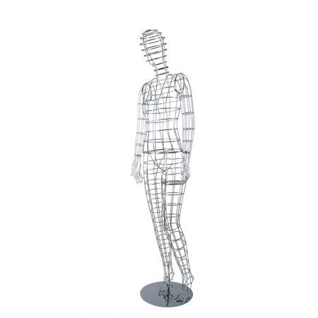 Γυναικεία Κούκλα Βιτρίνας Μεταλλική 180cm