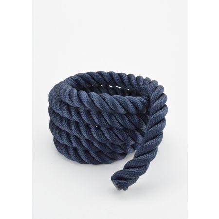 Διακοσμητικό σχοινί τρίκλωνο Μπλε 24mm με το μέτρο