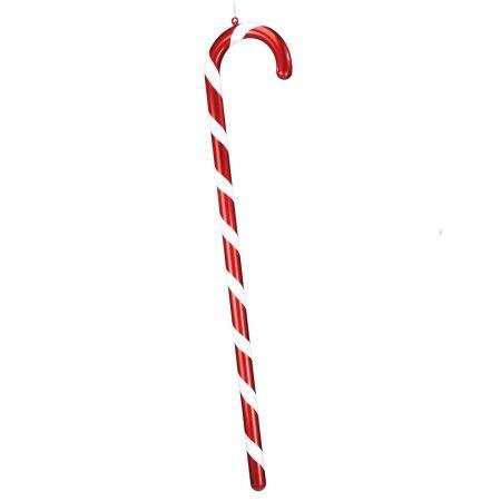 XXL Χριστουγεννιάτικο μπαστούνι - γλειφιτζούρι Κόκκινο - Λευκό 150cm