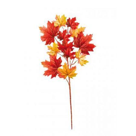 Διακοσμητικό Φθινοπωρινό κλαδί Κίτρινο - Πορτοκαλί 90cm