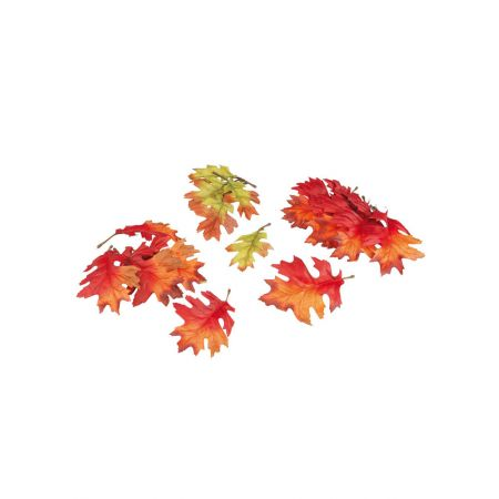 Σετ 72τχ Διακοσμητικά φύλλα βελανιδιάς 13cm