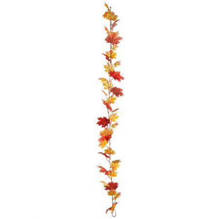 Διακοσμητική γιρλάντα με φύλλα Βελανιδιάς Κίτρινο - Πορτοκαλί 180cm