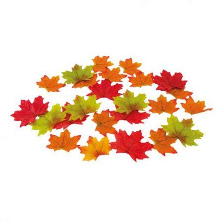 Σετ 25τχ Φθινοπωρινά φύλλα Κόκκινο - Πορτοκαλί 8cm