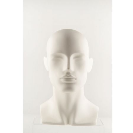 Διακοσμητικό Κεφάλι Ανδρικό Λευκό 32.5cm