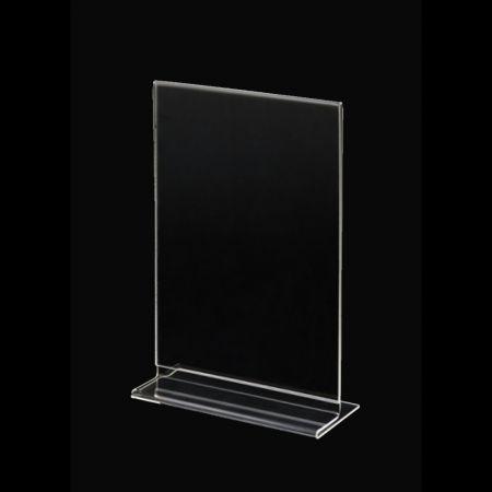 Σταντ εντύπων - τιμών Plexiglass A5 15x22cm