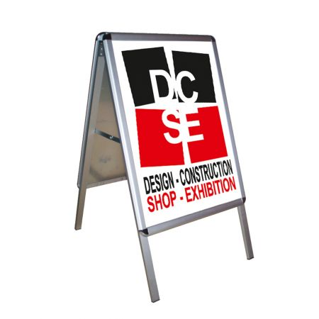 Σταντ δαπέδου διπλής όψης για αφίσα Β2 (50x70cm)