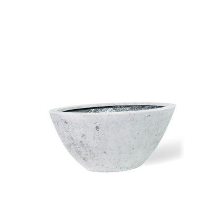 Γλάστρα BOAT με όψη πέτρας Γκρι 36x72x33cm