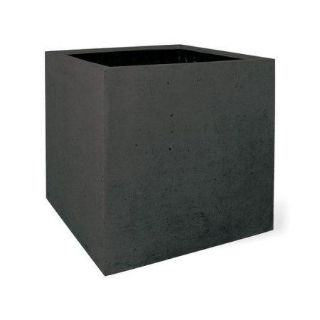 Γλάστρα SQUARE με όψη πέτρας Ανθρακί 60x60cm