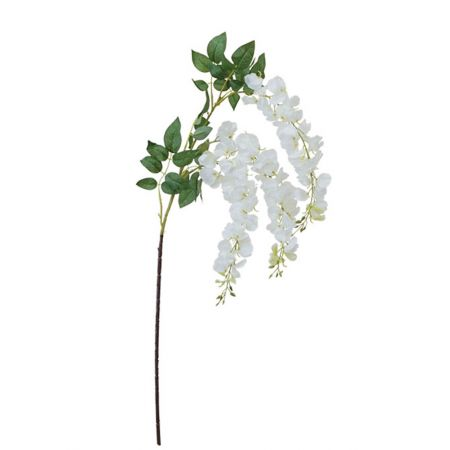 Διακοσμητικό κλαδί με άνθη ακακίας Λευκά 89-110cm