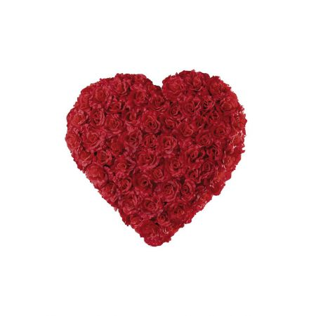 Διακοσμητική καρδιά με τριαντάφυλλα, 50cm