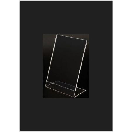 Σταντ εντύπων - τιμών Plexiglass B7 (9x13cm) με κλίση