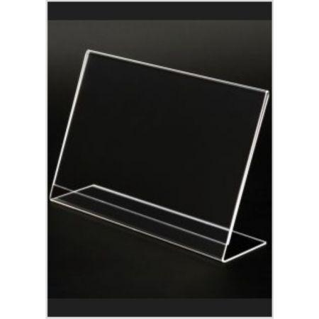 Σταντ εντύπων - τιμών Plexiglass A4 (31x21cm) με κλίση
