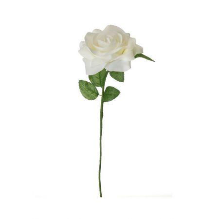 Διακοσμητικό κρέμ τριαντάφυλλο 45cm
