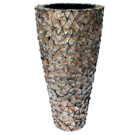 Γλάστρα-Βάζο SHELL με κοχύλια Καφέ 74x140cm