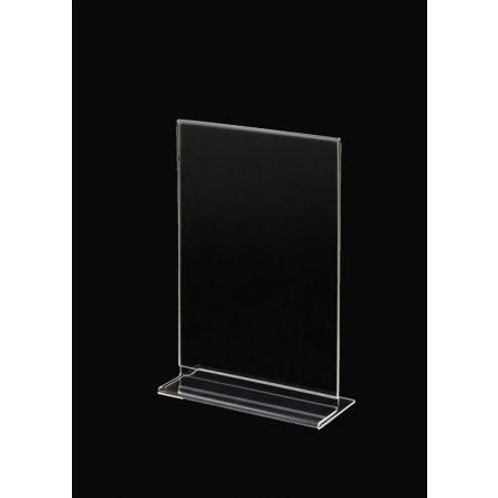 Σταντ εντύπων - τιμών Plexiglass B6 12x18cm