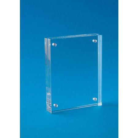 Σταντ εντύπων - τιμών Plexiglass με μαγνήτες 11x15cm