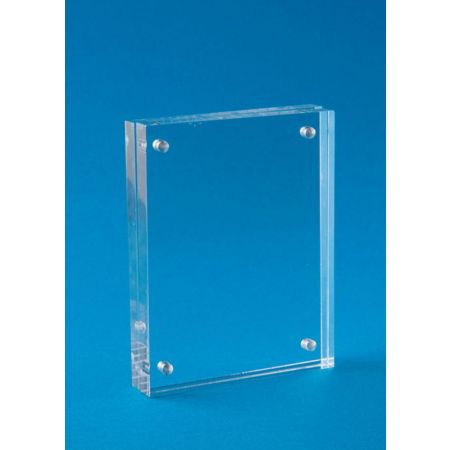 Σταντ εντύπων - τιμών Plexiglass με μαγνήτες 12x17cm