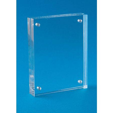 Σταντ εντύπων - τιμών Plexiglass με μαγνήτες 15.5x20.5cm