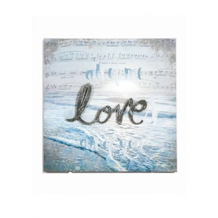 Διακοσμητικός Καμβάς Love & Sea 30x30cm