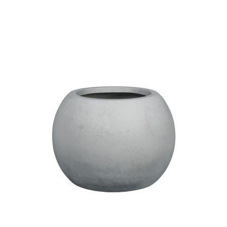Γλάστρα GLOBE με όψη πέτρας - μπετόν Γκρι 60x43cm