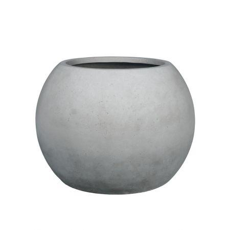 Γλάστρα GLOBE με όψη πέτρας - μπετόν Γκρι 80x57cm