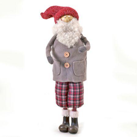 Διακοσμητικός Άγιος Βασίλης, λούτρινος 72 cm