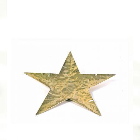 Δίσκος - βάση αλουμινίου αστέρι, σφυρήλατη Χρυσό 27cm