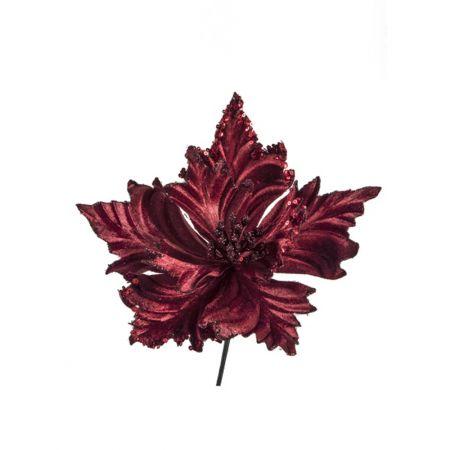 Χριστουγεννιάτικο Αλεξανδρινό λουλούδι βελούδινο Μπορντό