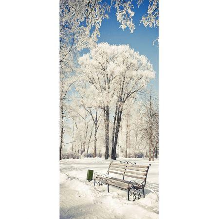 Διακοσμητική χειμωνιάτικη αφίσα - Wonderland - 90x200cm