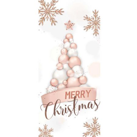 Αφίσα - Banner με Χριστουγεννιάτικο Δέντρο από μπάλες 90x200cm