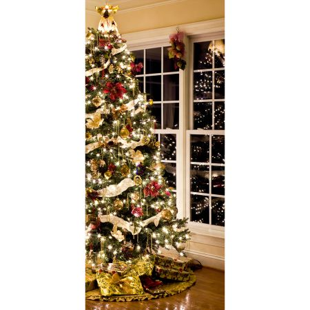 Αφίσα - Banner με Χριστουγεννιάτικο δέντρο 90x200cm
