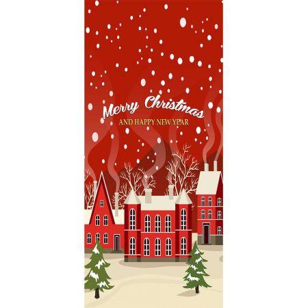 Αφίσα - Banner με Χριστουγεννιάτικο χωριό 90x200cm