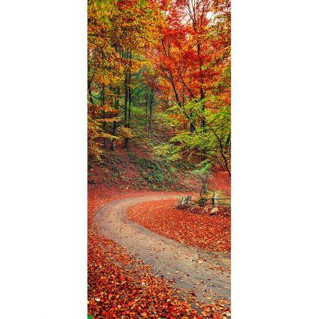 Διακοσμητική αφίσα με φθινοπωρινό δάσος 90x200cm
