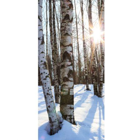 Διακοσμητική αφίσα με χιονισμένο δάσος 200x90cm