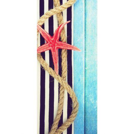 Διακοσμητική καλοκαιρινή αφίσα με Αστερία 90x200cm