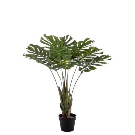 Διακοσμητικό τεχνητό φυτό Monstera σε γλάστρα 80cm