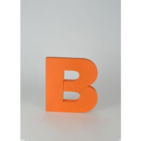 Διακοσμητικό γράμμα Β Πορτοκαλί 29x26x3cm
