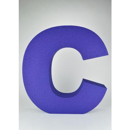 XL Διακοσμητικό γράμμα C Μπλε 60x57x10cm