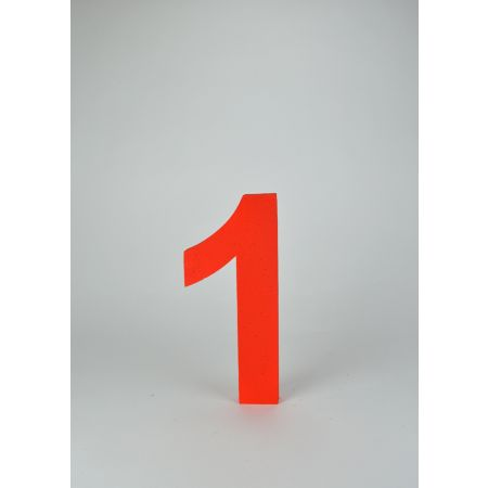Διακοσμητικός αριθμός 1 Κόκκινος 29x13x3cm