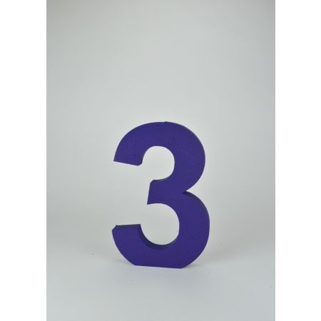 Διακοσμητικός αριθμός 3 Μπλε 30x20x3cm