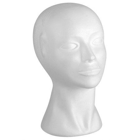 Διακοσμητικό Κεφάλι Γυναικείο Λευκό 29cm
