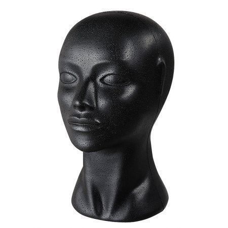 Διακοσμητικό Κεφάλι Γυναικείο Μαύρο 29cm