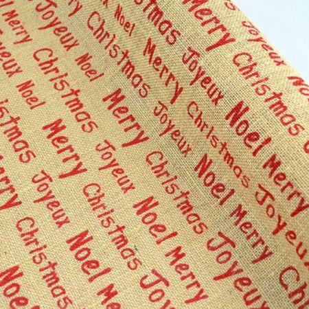 Διακοσμητικό χριστουγεννιάτικο ύφασμα - λινάτσα, 50cm x 5m