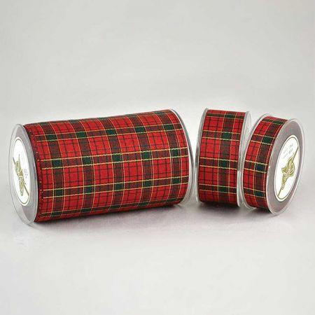 Κορδέλα-Polyester ROSSOVERDE πράσινο - κόκκινο , 5.2cmx18.2m