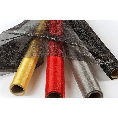 Διακοσμητικό ύφασμα ΧΡΥΣΟΤΥΠΙΑ 75cmx18.2m , Mαύρο