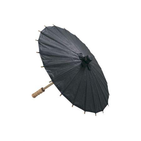 Διακοσμητική Χάρτινη ομπρέλα, Μαύρη 40cm