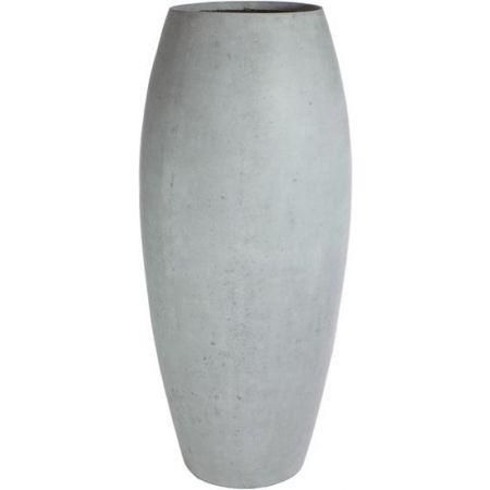 Γλάστρα-Βάζο ESSENCE με όψη πέτρας Γκρι 52x120cm