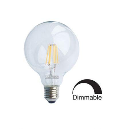 Λάμπα Γλόμπος G125 LED Filament Universe 6W Dimmable