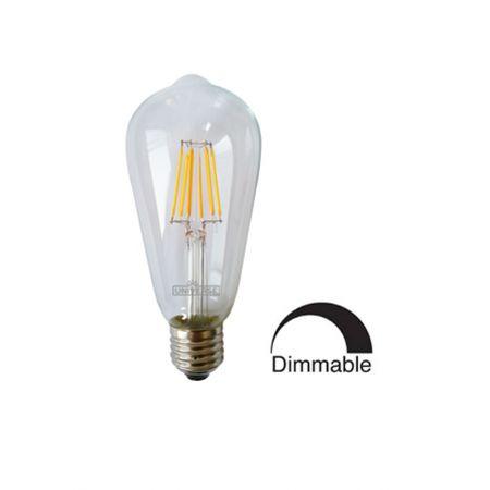 Λάμπα Γλόμπος ST64 LED Filament Universe 6W Dimmable